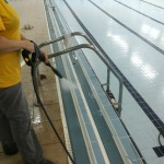 Промывание стоков бассейна